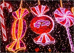 Auto Body Christmas Lights Card