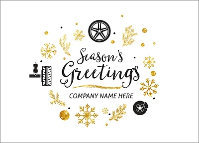 Auto Tires Holiday Card (Glossy White)