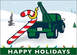 Tow Truck Holiday Card