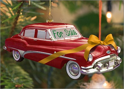 Used Car Ornament (Glossy White)