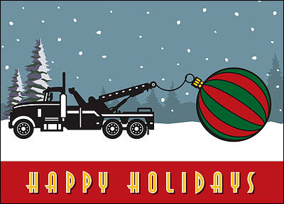 Christmas Tow Truck (Glossy White)