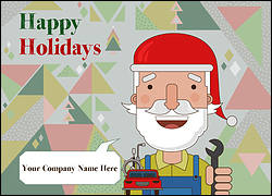 Santa Mechanics Christmas Card