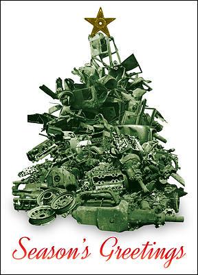 scrap metal christmas tree glossy white - Metal Christmas Tree