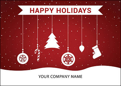 Tire Ornaments Holiday Card (Glossy White)