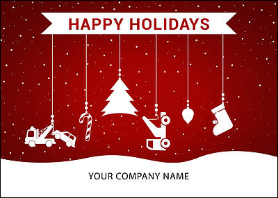Towing Ornaments Holiday Card (Glossy White)